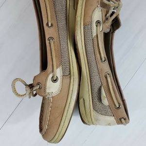 Sperry Topsider Leather Slip On Boat Shoes Size 9